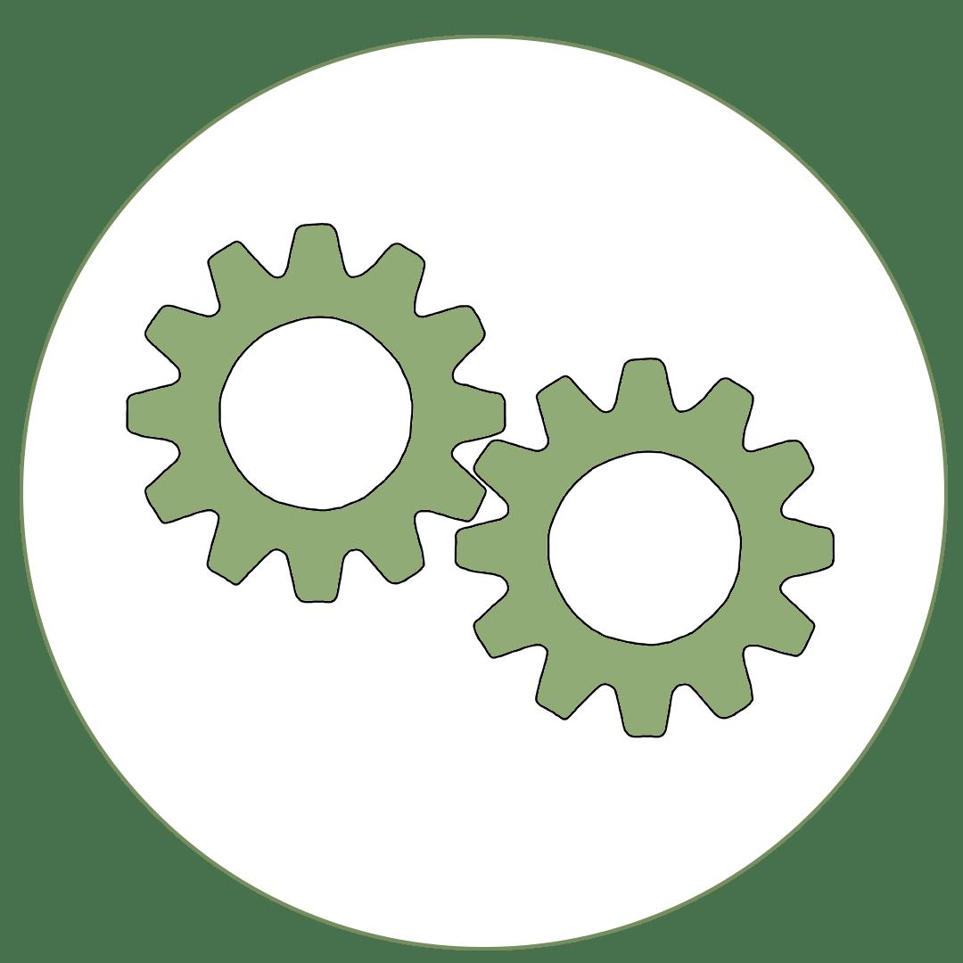 Icon von Zahnrädern