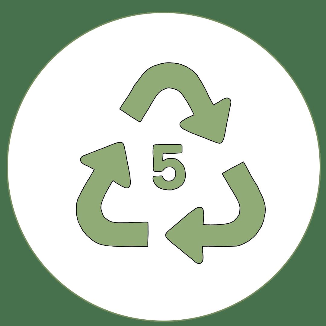 Icon von dem Recyclingcode 5