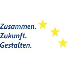 Logo des ESF (Zusammen. Zukunft. Gestalten.)